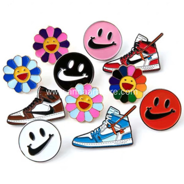 Custom Soft Enamel Basketball Shoes Pin Badge
